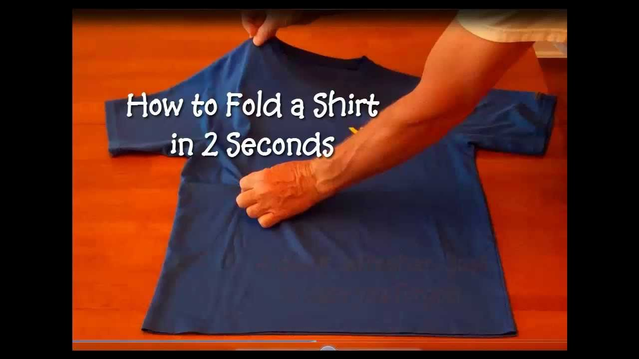 how to fold a shirt in two seconds