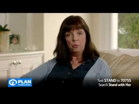 Stand with Her - Plan International UK Sponsor a Girl TV ad. (2018 full length)