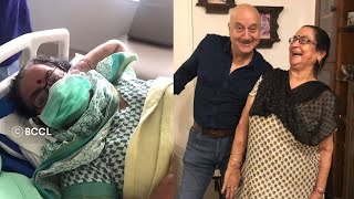 Bollywood actor Anupam Kher shares video of mother leaving..