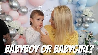 MY brothers Baby gender reveal!! Baby number 2 BOY OR GIRL?!