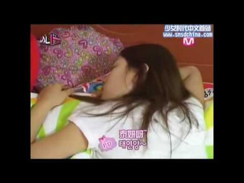 韓國少女時代 - 節目片段 - 寢起