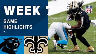 Panthers vs. Saints Week 7 Highlights | NFL 2020