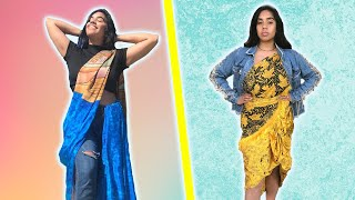 I Wore Saris Casually 3 Different Ways