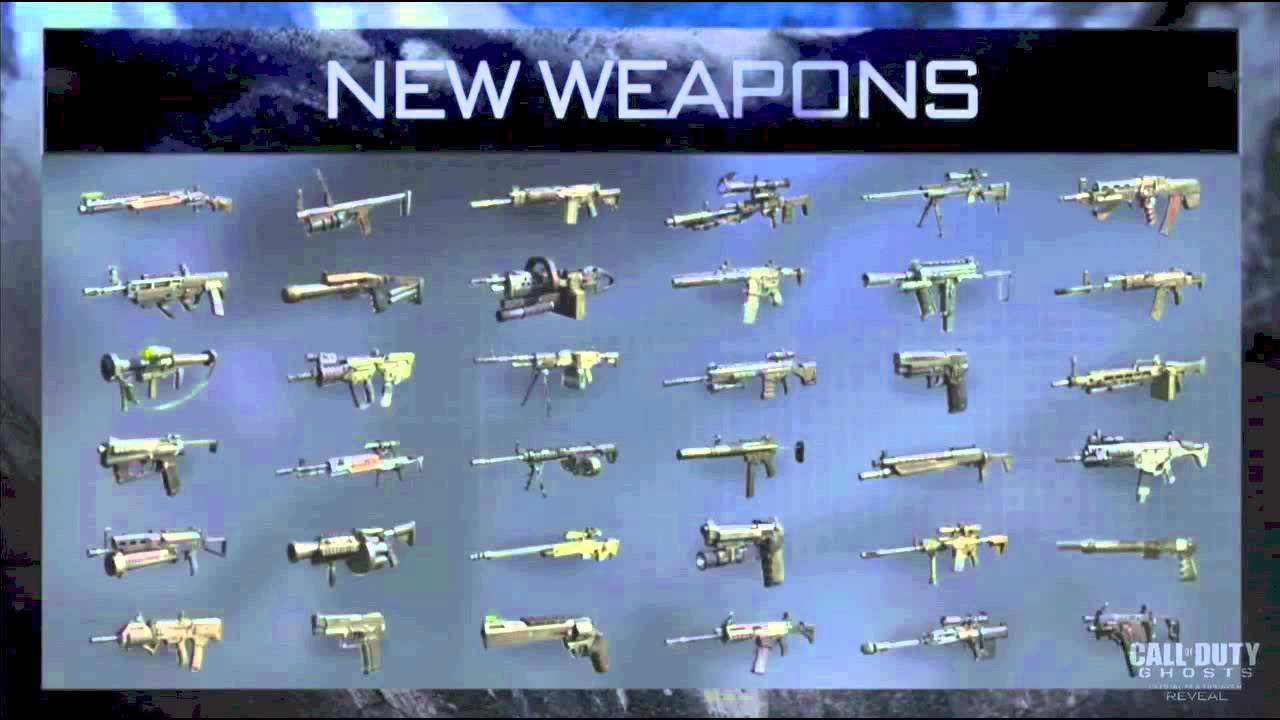 Call of Duty Ghosts: Weapons - YouTube