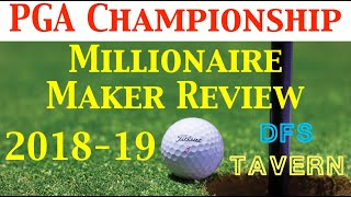 PGA Championship Millionaire Maker DraftKings DFS Golf Lineup Review