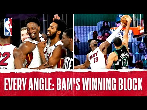 Every Angle: Bam Adebayo's GAME-WINNING BLOCK!