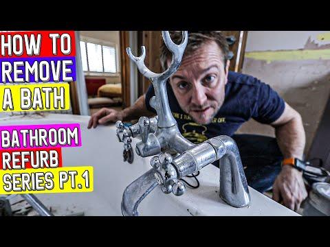 HOW TO REMOVE A BATH - Bathroom Refurbishment Part 1