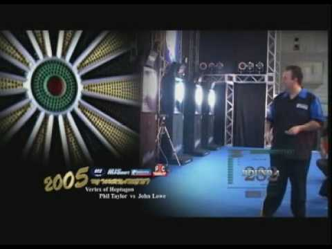 Phil Taylor v John Lowe - 2005 Vertex of Heptagon Semi-Final Part 1