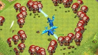 "DON't get SURROUNDED!! ! ""Clash Of Clans"" clan war w/ Galadon!"