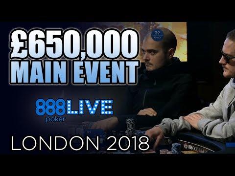 FINAL TABLE 888poker LIVE London Main Event ($155,000 1st)