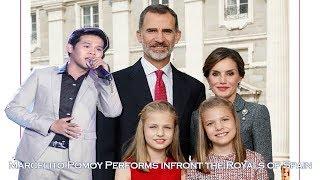 Marcelito Pomoy singing Despacito & The Prayer (ft. Royal Family of Spain)