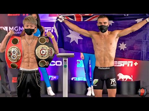 NAOYA INOUE VS. JASON MOLONEY | FULL WEIGH IN & FACE OFF VIDEO (井上vsモロニー)