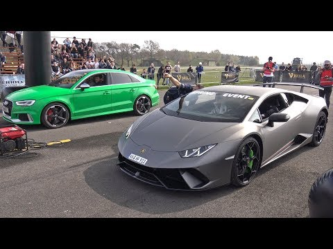 Lamborghini Huracán Performante vs Audi RS3 Sedan