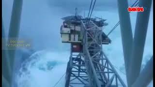 Cơn Bảo số 16 ( teambin)ột sóng cao hàng chục mét tràn qua Nhà giàn DK1
