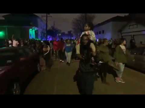 Raw: New Orleans Second Line for 5th Ward Weebie