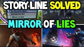 """*NEW* Fortnite """"MIRROR OF LIES"""" SEASON 4 STORY LINE EXPLAINED! OMEGA'S REAL ENEMY THE """"VISITOR"""""""