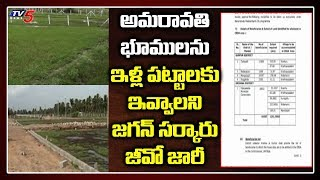 AP Govt issues GO to distribute the Amaravati Lands to the..
