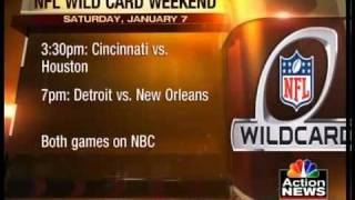 A look at the NFL playoff schedule