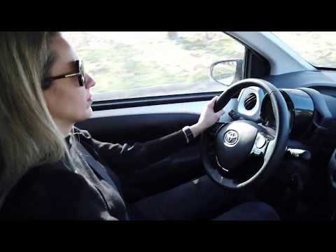 TOYOTA AYGO 1.0 driving in Greece