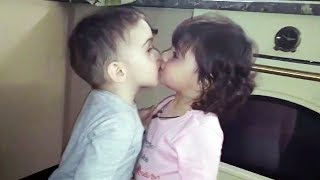 😍 Funny And Cute Babies 😁💗 - Funny Babies Kissing
