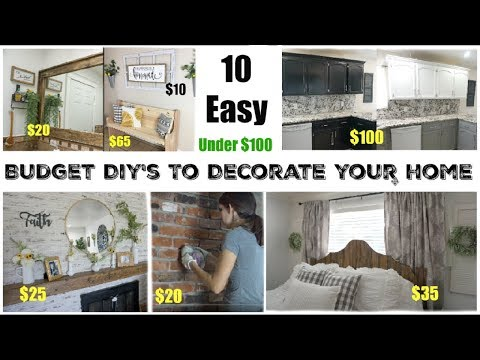 10 DIY'S TO DECORATE ON A BUDGET | EASY HOME DECOR PROJECTS | Momma From Scratch
