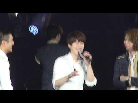 150501 SS6 SG Kyuhyun's Funny English then Heartfelt Chinese Speech