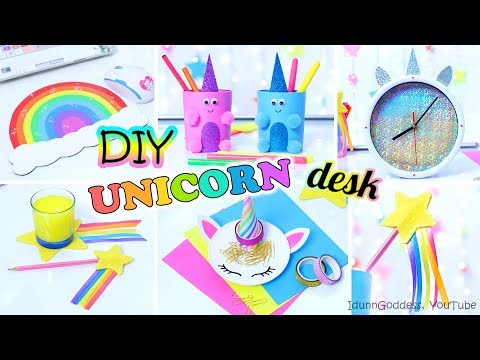 5 DIY Unicorn Style Desk Organization Ideas – How To Decorate Your Desk Every Unicorn Would Like