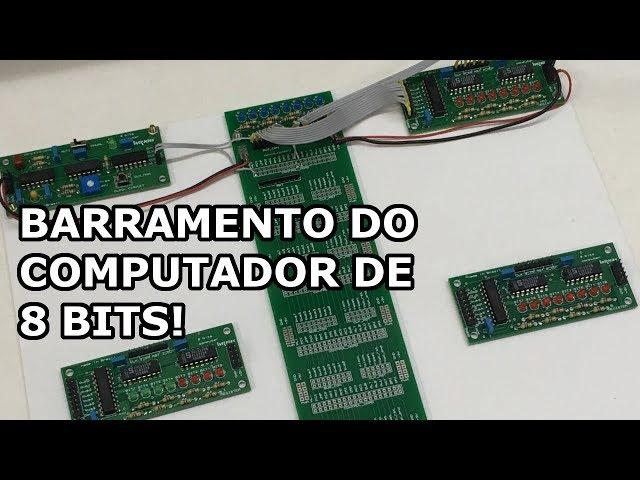 MUITO SHOW! BARRAMENTO DO COMPUTADOR DE 8 BITS EM PCB!
