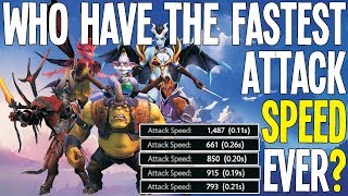 Who Have The Fastest Attack Speed Ever? | Dota 2 Tips And Tricks