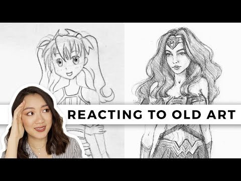 REACTING TO MY OLD ART! (My Art Journey!)