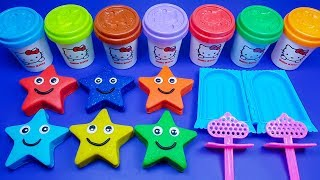 Making 3 Ice Cream out of 6 Play Doh Cute Stars   PJ Masks Surprise Egg