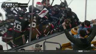 Tyler Madden Scores In Overtime To Lift Northeastern To Beanpot Final