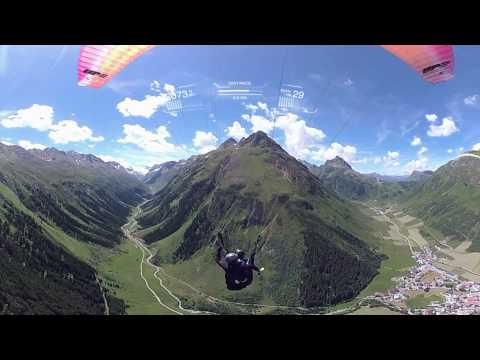 Garmin VIRB 360: Paragliding in the Paznaun Valley, Austria