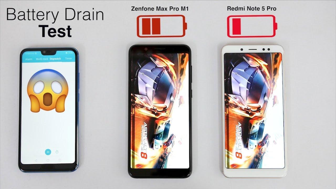 Redmi Note 5 Pro Vs Asus Zenfone Max Pro M1 Battery Drain Test | I GAVE  UP😣😣