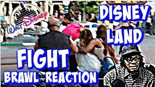 DISNEYLAND FIGHT || HILARIOUS REACTION || - (It's Going Down In TOONTOWN )