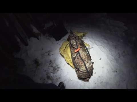 Зимняя походная палатка с печкой, Буран, сугробы, ночевка зимой, один в тайге