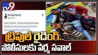 RGV fined by Hyderabad traffic police for triple riding..