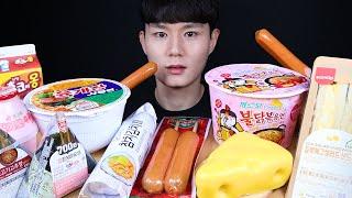 편의점 디저트 먹방ASMR MUKBANG Korean Convenience Store Food & FIRE NOODLES 韓国のコンビニフード eating sounds