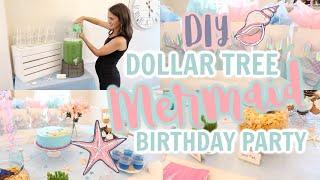 EMMI'S 4TH BIRTHDAY PARTY  // DIY MERMAID BIRTHDAY PARTY // DOLLAR TREE DECORATING IDEAS