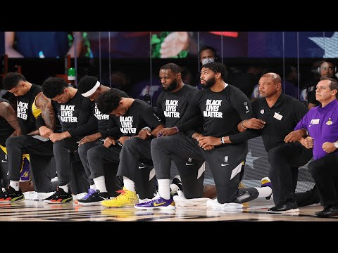 Clippers And Lakers Kneel In Solidarity During National Anthem