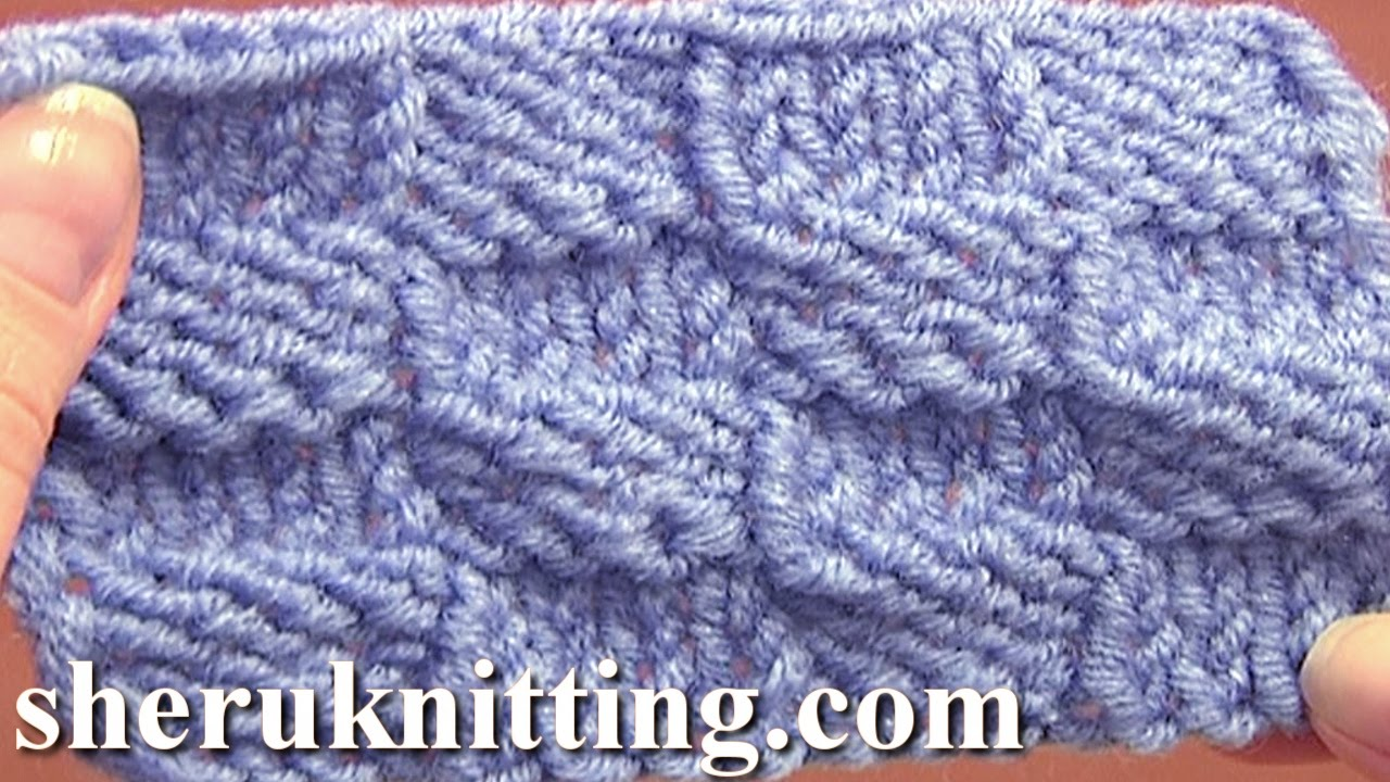 Knitted Checkerboard Stitch Pattern Tutorial 8 Easy