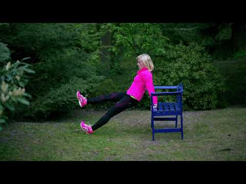 Parkbank Workout mit Katrin