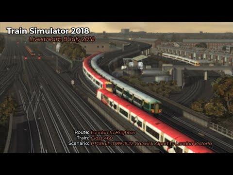 PTGRail 1U89 1622 Gatwick Airport to London Victoria Livestream 08072018