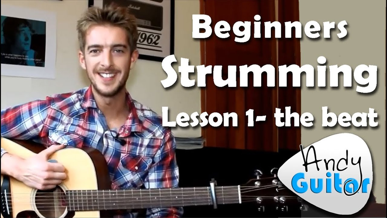 beginners guitar strumming lesson 1 how to play on the beat youtube. Black Bedroom Furniture Sets. Home Design Ideas