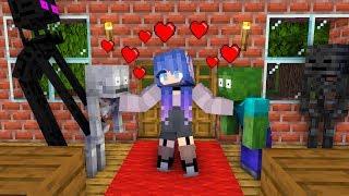 Monster School : LOVE CURSE CHALLENGE - Minecraft Animation
