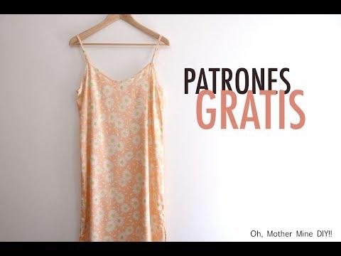 Patrones gratis de vestido satén para mujer