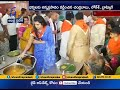 Chandrababu family serve food to pilgrims at Tirumala