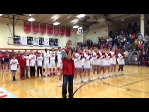 KHS Varsity Basketball National Anthem on Harmonica
