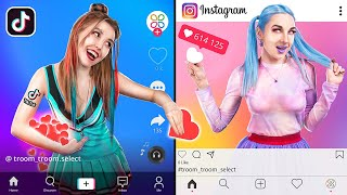 Instagram Girl vs TikTok Girl