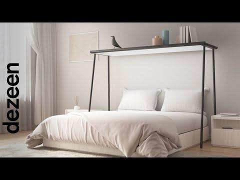 Gianfranco Vasselli incorporates OLED display into wood shelf   Dezeen